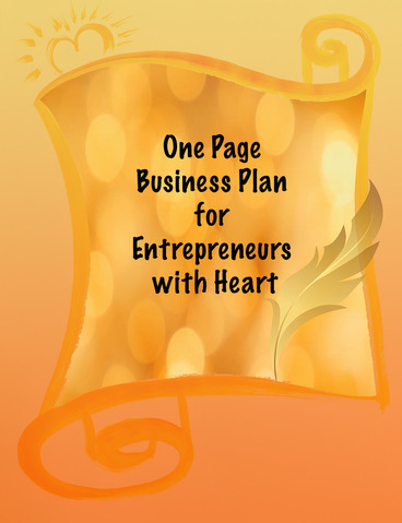free one page business plan for entrepreneurs with heart